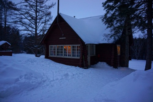 Chalet Pruche as the day ends