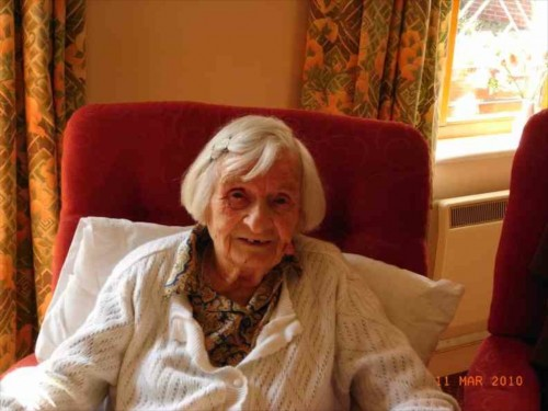 A big jump in time - on her 100th birthday