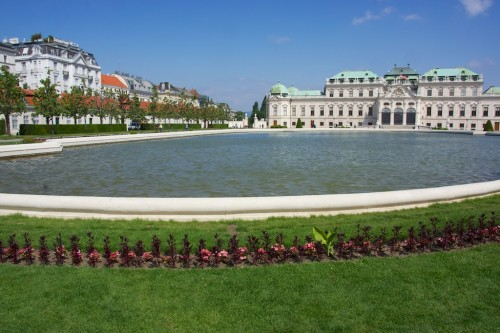 The Belvedere in Vienna - easy to spend a day here.