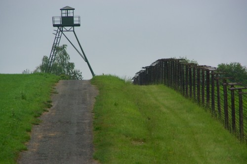 Remnants of what was literally the iron curtain