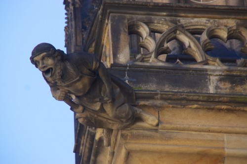 Gargoyle overlooking the main entrance to St Vitus' Cathedral