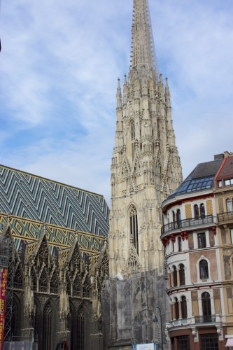 St Stephen's Cathedral in Vienna - note the stunnig roof design