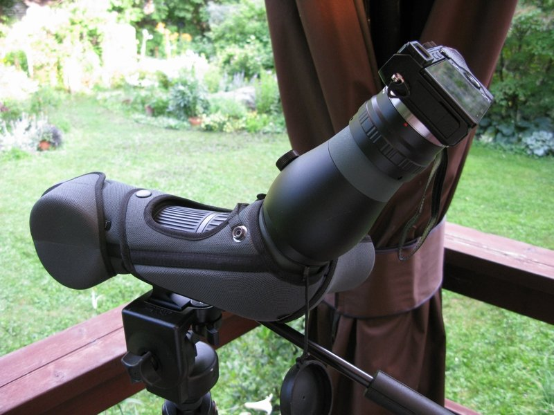 Scope with the much smaller and lighter Sony camera attached.
