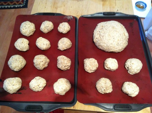 10: Divide the dough - gently - into the size and shape you want, remembering that they increase in size again